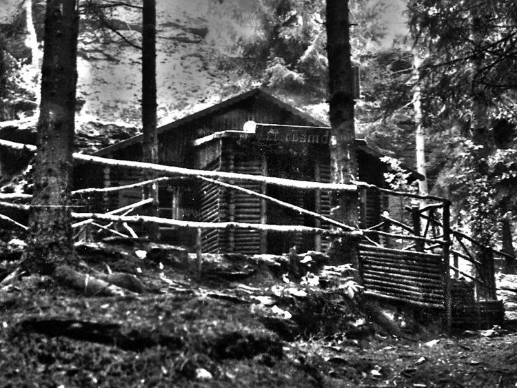 Holzhütte am Ringelfelsen